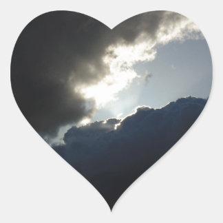 Light Breaks Through Heart Sticker