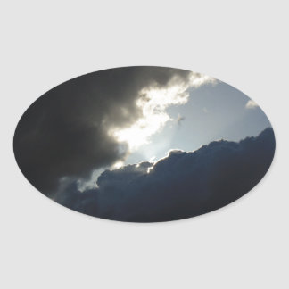Light Breaks Through Oval Sticker