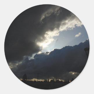 Light Breaks Through Round Sticker