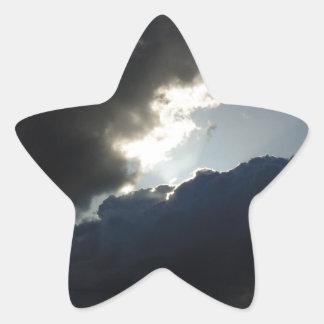 Light Breaks Through Star Sticker