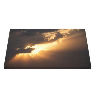 Light Breaks Through / Valo murtautuu läpi Canvas Print
