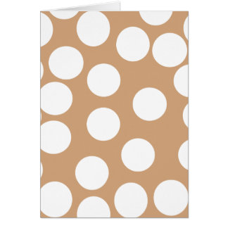 Light Brown and White Spot Pattern. Card