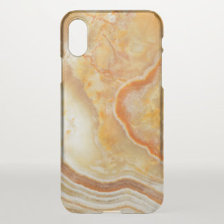 Light Brown & Beige Faux Marble Print iPhone X Case