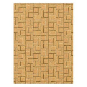 Light Brown Block Design Tablecloth