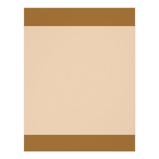 Light Brown border Full Color Flyer