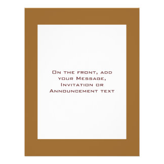 Light Brown border Personalized Flyer