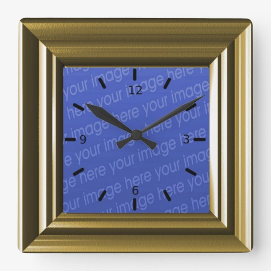 Light Brown Faux Wood Add Your Own Photo Clock