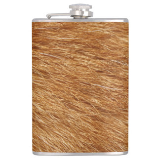 LIGHT BROWN FUR FLASK