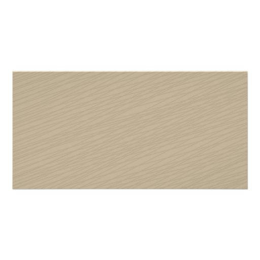Light brown girly stripes pattern photo card template