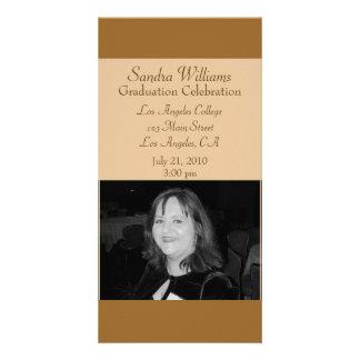 light brown graduation photo card template