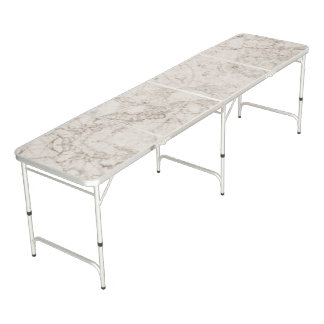 Light Brown Marble Look Beer Pong Table