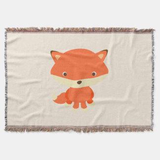 Light Brown, Sitting Fox Throw