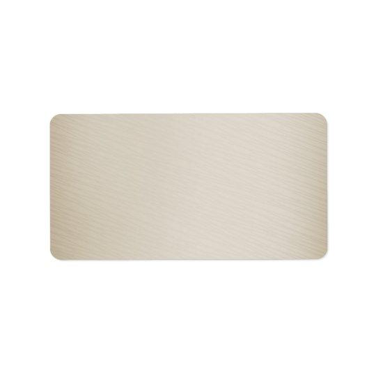 Light brown texture label