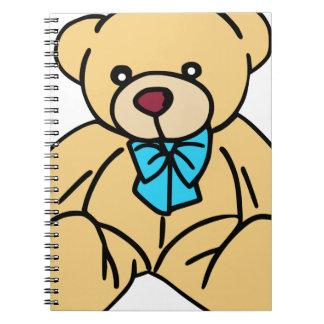 Light Brown Traditional Teddy Bear Notebook