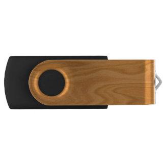 Light brown wood USB flash drive