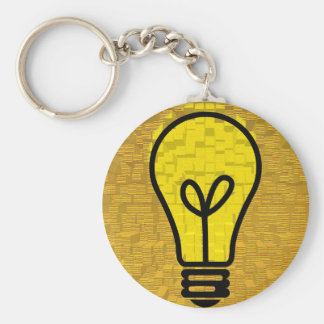 light bulb  art keychain