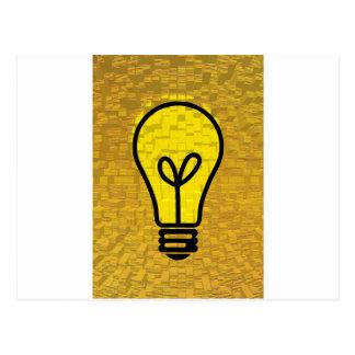 light bulb  art postcard