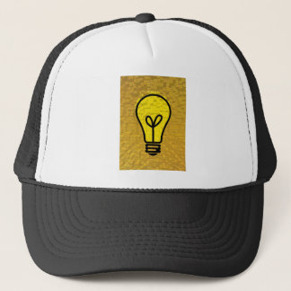 light bulb  art trucker hat
