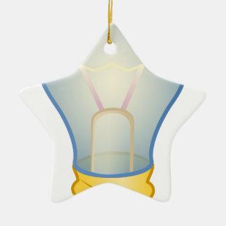 Light bulb ceramic star ornament
