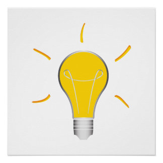 Light Bulb creative idea Poster