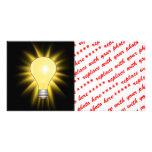 Light Bulb - Dim The Lights Photo Card