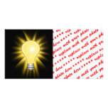 Light Bulb - Dim The Lights Photo Card Template