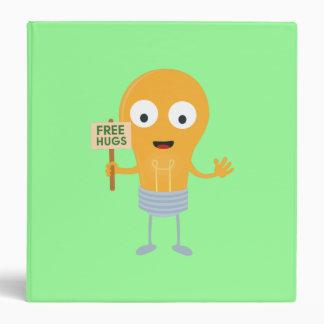 light bulb free hugs happy Zggq6 3 Ring Binder