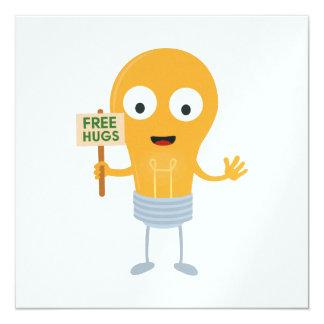 light bulb free hugs happy Zggq6 Card