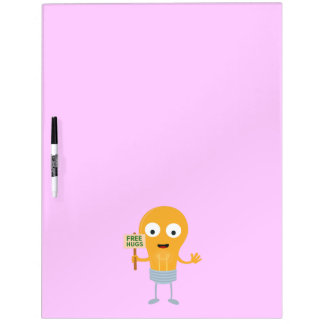 light bulb free hugs happy Zggq6 Dry Erase Board