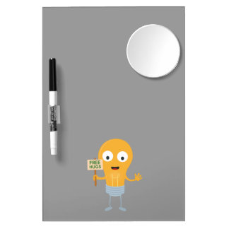 light bulb free hugs happy Zggq6 Dry Erase Board With Mirror