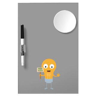 light bulb free hugs happy Zggq6 Dry Erase White Board