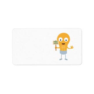light bulb free hugs happy Zggq6 Label