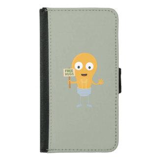 light bulb free hugs happy Zggq6 Samsung Galaxy S5 Wallet Case