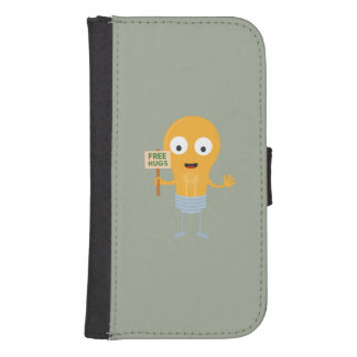 light bulb free hugs happy Zggq6 Samsung S4 Wallet Case