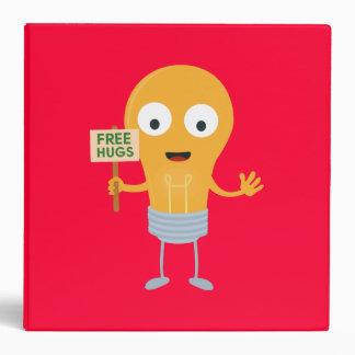 light bulb free hugs happy Zggq6 Vinyl Binder