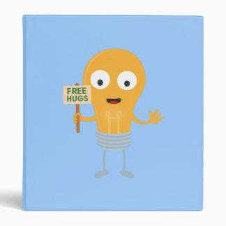 light bulb free hugs happy Zggq6 Vinyl Binders