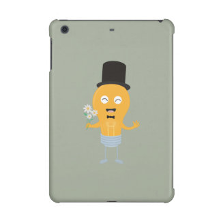 light bulb groom with flowers Z4686 iPad Mini Retina Case