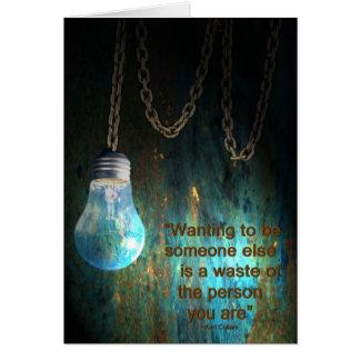 Light bulb Grunge  Card