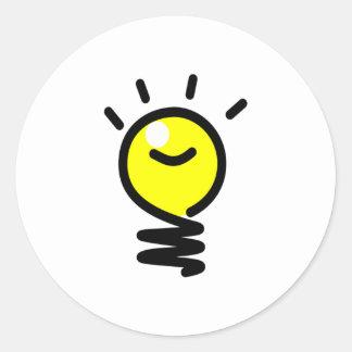 Light Bulb Idea Classic Round Sticker