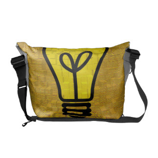 light bulb  messenger bag