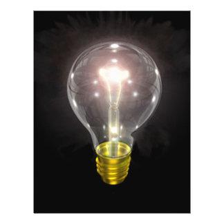 light bulb on blk 3 inch flare flyer design