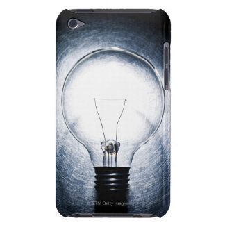 Light Bulb on Stainless Steel Background iPod Case-Mate Case