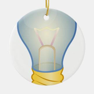 Light bulb round ceramic ornament