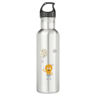light bulb switch on the moon Ze7r4 710 Ml Water Bottle