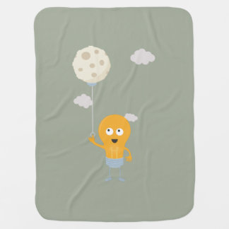 light bulb switch on the moon Ze7r4 Baby Blanket