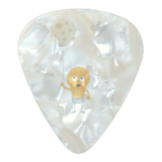 light bulb switch on the moon Ze7r4 Pearl Celluloid Guitar Pick