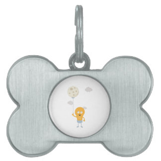 light bulb switch on the moon Ze7r4 Pet Name Tag