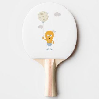 light bulb switch on the moon Ze7r4 Ping Pong Paddle