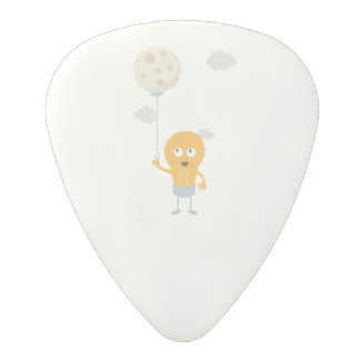 light bulb switch on the moon Ze7r4 Polycarbonate Guitar Pick