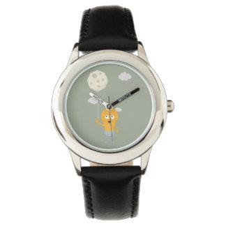 light bulb switch on the moon Ze7r4 Wrist Watch